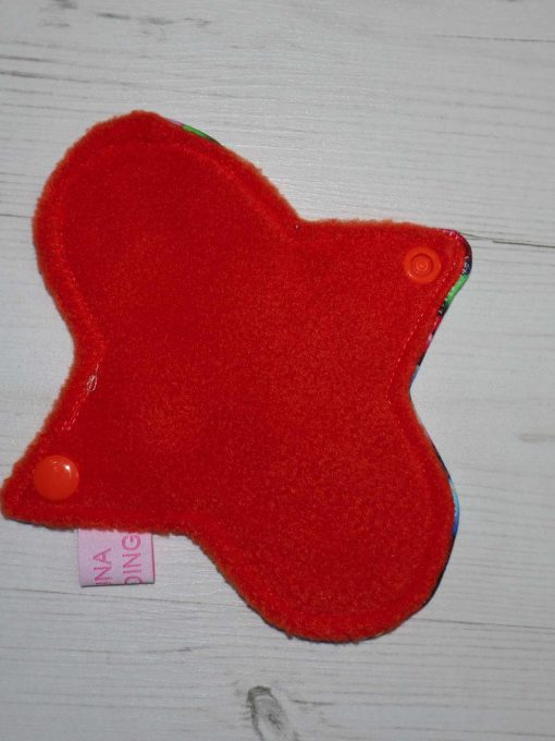 "6"" Liner cloth pad | Smarties Cotton Jersey | Orange Polar Fleece | Luna Landings | Sub"