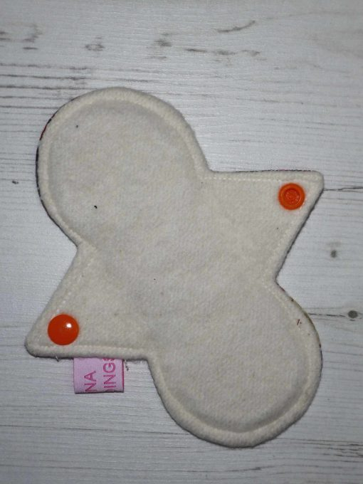 "6"" Regular Flow cloth pad   Day of the Dead Princesses Cotton Jersey   Cream Organic Cotton Fleece   Luna Landings   Slim Sub"