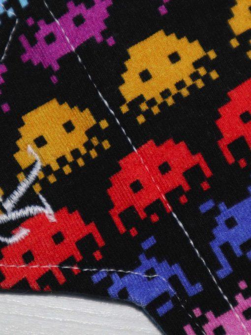 "6"" Regular Flow cloth pad | Space Invaders Cotton Jersey | Blue Wind Pro Fleece | Luna Landings | Sub"