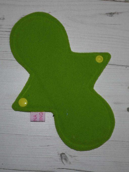 "8"" Light Flow cloth pad   Electric Skies Cotton Jersey   Green Wind Pro Fleece   Luna Landings   Slim Sub"