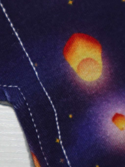 "8"" Liner cloth pad | Lanterns Cotton Jersey | Grey Soft Shell | Luna Landings | Slim Sub"