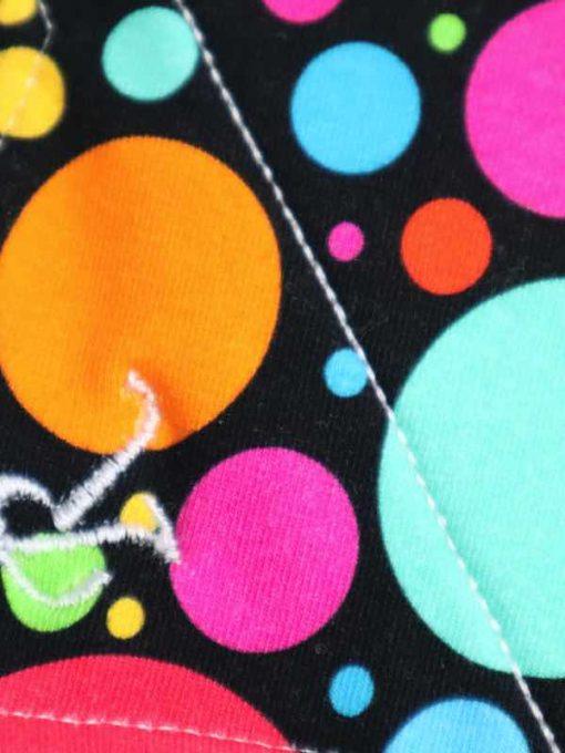 "8"" Regular Flow cloth pad | Eco Dots Cotton Jersey | Blue Soft Shell | Luna Landings | Sub"