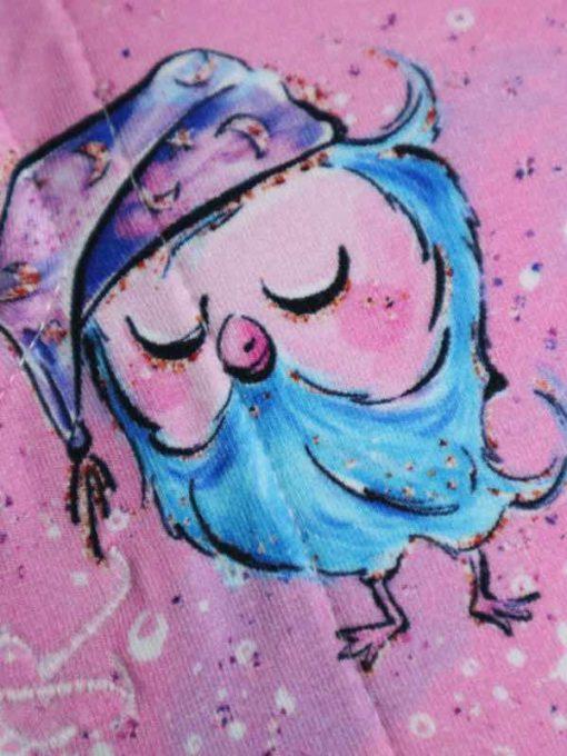 "9"" Regular Flow cloth pad | Owls Bamboo Jersey | Blue Soft Shell | Luna Landings | Sub"
