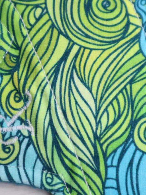 "9"" Regular Flow cloth pad | Seaweed Cotton Jersey | Blue Soft Shell | Luna Landings | Slim Sub"