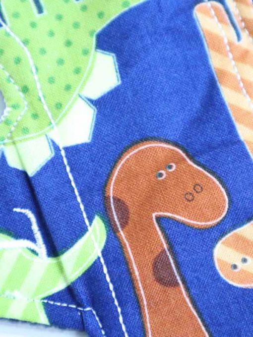 "10"" Light Flow cloth pad | Dinos Cotton | Blue Polar Fleece | Luna Landings | Slim Sub"