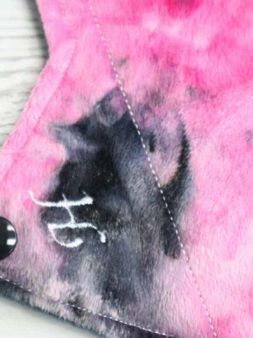 "11"" Heavy Flow cloth pad | Pink Mystique Plush | Grey Wind Pro Fleece | Luna Landings | Sub"