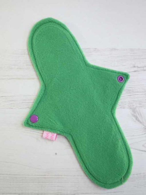 "11"" Regular Flow cloth pad   Alien Flora Cotton   Green Wind Pro Fleece   Luna Landings   Sub"