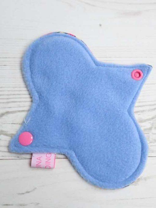 "6"" Light Flow cloth pad | Geometric Shapes Cotton | Blue Polar Fleece | Luna Landings | Sub"