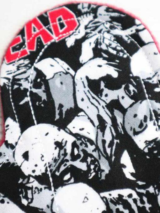 "6"" Light Flow cloth pad   The Walking Dead Cotton   Burgundy Polar Fleece   Luna Landings   Sub"