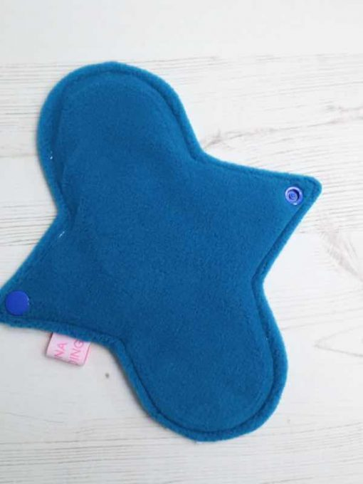 "8"" Regular Flow cloth pad | Magic Skies Luna Cotton Jersey | Blue Wind Pro Fleece | Luna Landings | Sub"