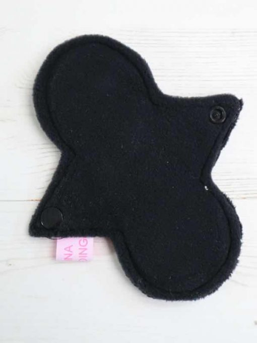 "6"" Regular Flow cloth pad | Black Plush | Black Wind Pro Fleece | Luna Landings | Slim Sub"