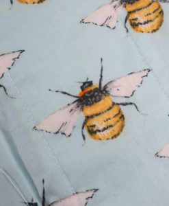 "8"" Light Flow cloth pad | Bees Cotton | White Polar Fleece | Luna Landings | Sub"