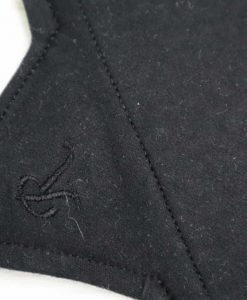 "8"" Regular Flow cloth pad | Black Cotton Jersey | Black Cotton Jersey | Luna Landings | Sub"