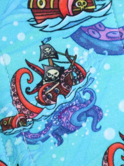 "8"" Regular Flow cloth pad | Pirates Cotton Jersey | Green Wind Pro Fleece | Luna Landings | Sub"