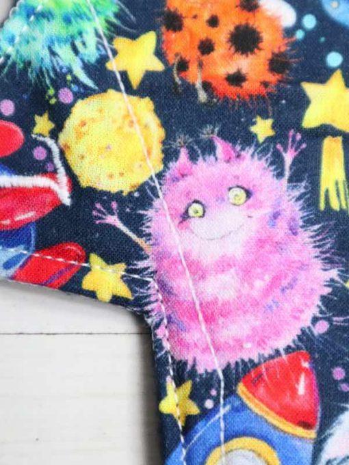 "10"" Light Flow cloth pad | Alien Space Cotton | Navy Polar Fleece | Luna Landings | Slim Sub"
