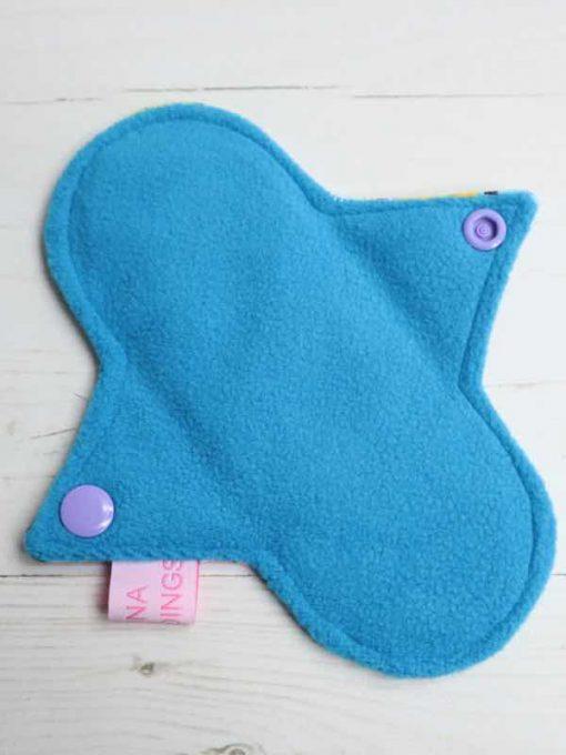"6"" Regular Flow cloth pad | Dragon Scales Cotton Jersey | Blue Soft Shell | Luna Landings | Sub"