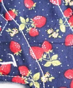 "6"" Regular Flow cloth pad | Navy Strawberry Cotton | Navy Polar Fleece | Luna Landings | Slim Sub"