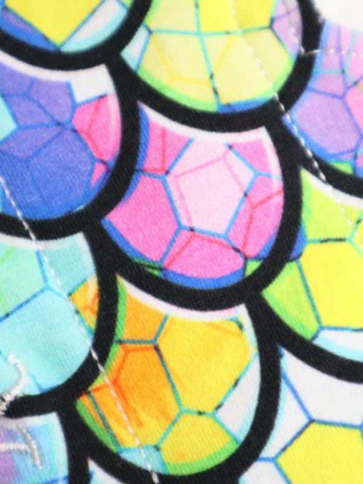 "8"" Regular Flow cloth pad   Dragon Scales Cotton Jersey   Mint Wind Pro Fleece   Luna Landings   Slim Sub"
