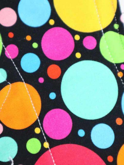 "12"" Regular Flow cloth pad | Eco Dots Cotton Jersey | Blue Wind Pro Fleece | Luna Landings | Double Flare"