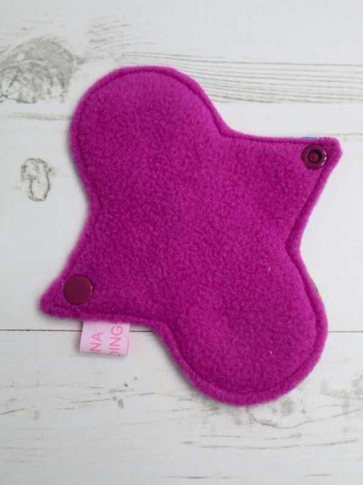 "6"" Light Flow cloth pad | Anna and Elsa Cotton | Purple Polar Fleece | Luna Landings | Sub"