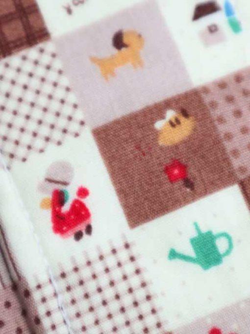 "6"" Light Flow cloth pad   Patchwork Garden Cotton   Black Polar Fleece   Luna Landings   Sub"