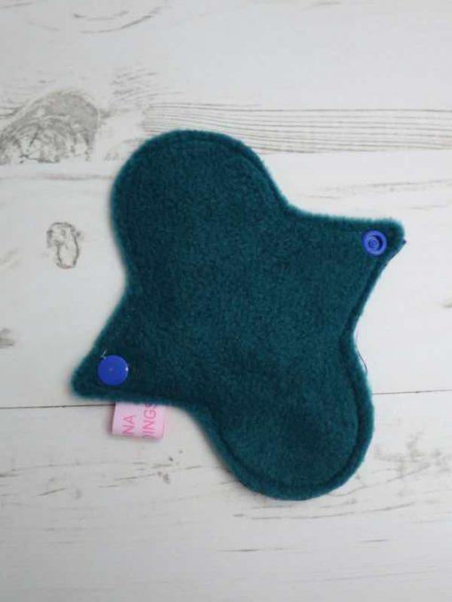 "6"" Light Flow cloth pad | Star Wars Cotton | Teal Polar Fleece | Luna Landings | Sub"