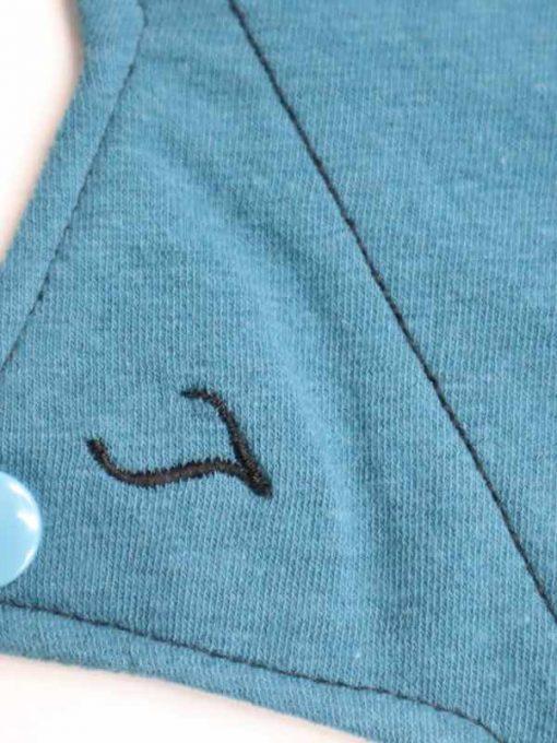 "10"" Light Flow cloth pad | Blue Lagoon Cotton Jersey | Blue Lagoon Cotton Jersey | Luna Landings SupaThin | Sub"