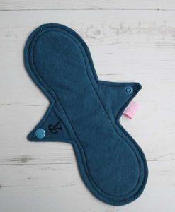 "10"" Regular Flow cloth pad | Blue Lagoon Cotton Jersey | Blue Lagoon Cotton Jersey | Luna Landings SupaThin | Slim Sub"