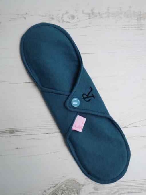 "10"" Regular Flow cloth pad | Blue Lagoon Cotton Jersey | Blue Lagoon Cotton Jersey | Luna Landings SupaThin | Sub"