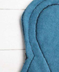 "6"" Regular Flow cloth pad | Blue Lagoon Cotton Jersey | Blue Lagoon Cotton Jersey | Luna Landings SupaThin | Sub"