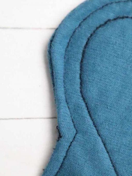 "6"" Regular Flow cloth pad   Blue Lagoon Cotton Jersey   Blue Lagoon Cotton Jersey   Luna Landings SupaThin   Sub"