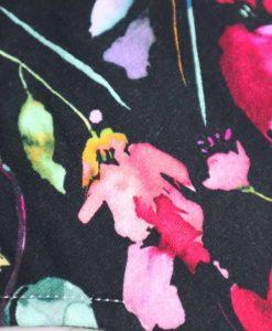 "8"" Liner cloth pad | Midnight Meadow Cotton Jersey | Black Organic Cotton Fleece | Luna Landings | Sub"
