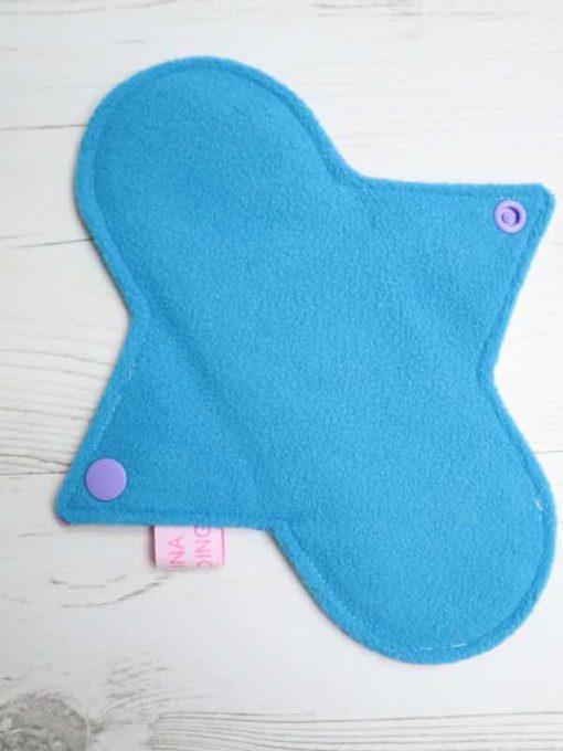 "8"" Regular Flow cloth pad   Bright Science Cotton Jersey   Blue Soft Shell   Luna Landings   Sub"