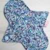"8"" Regular Flow cloth pad | Shiny Penny Glitter Cotton Jersey | Blue Ash Wind Pro Fleece | Luna Landings | Sub"