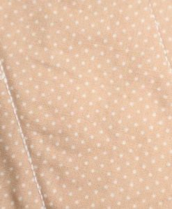 "10"" Liner cloth pad | Caramel Dobby Spot Cotton | Cream Polar Fleece | Luna Landings | Sub"