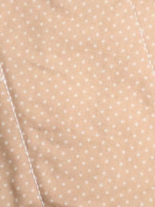 "10"" Liner cloth pad   Caramel Dobby Spot Cotton   Cream Polar Fleece   Luna Landings   Sub"