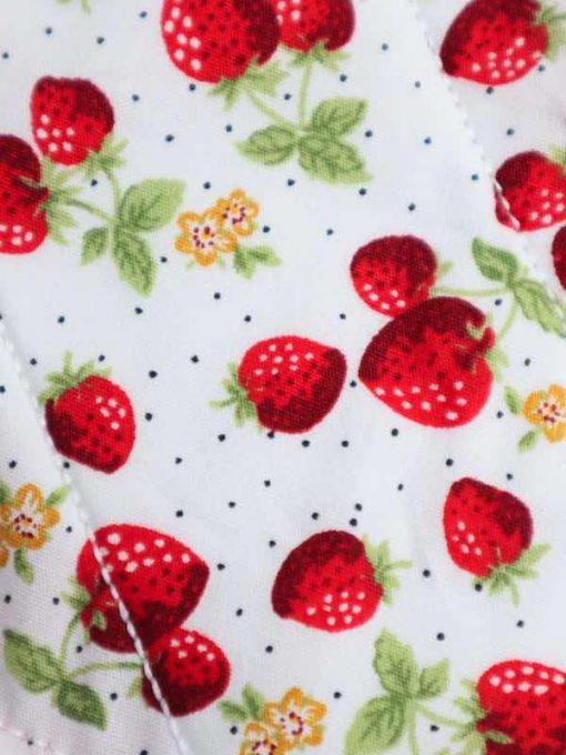 "10"" Regular Flow cloth pad   Strawberry Patch Cotton   Red Polar Fleece   Luna Landings   Sub"