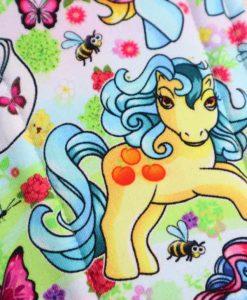 "14"" Overnight Extra Heavy Flow cloth pad | Vintage Ponies Cotton Jersey | Grey Wind Pro Fleece | Luna Landings | Double Flare"