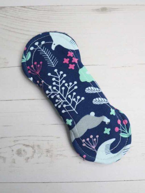 "6"" Liner cloth pad | Woodland Cotton Jersey | Navy Polar Fleece | Luna Landings | Slim Sub"