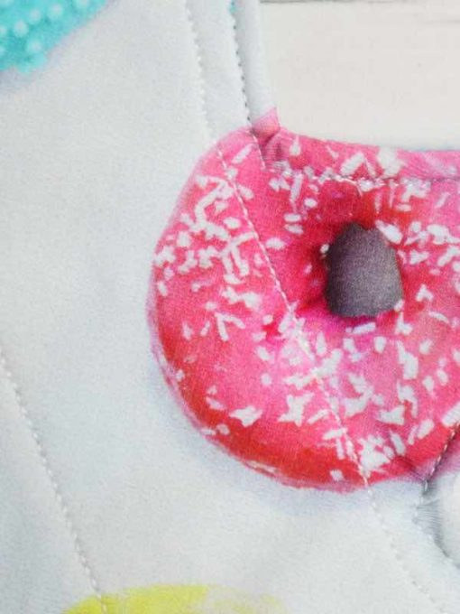 "8"" Light Flow cloth pad | Donuts Cotton Jersey | Blue Soft Shell | Luna Landings | Slim Sub"