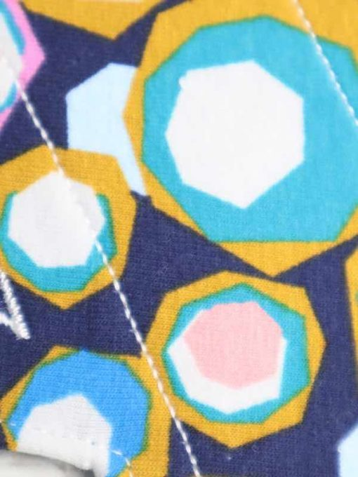"8"" Light Flow cloth pad | Hex Cotton Jersey | Blue Soft Shell | Luna Landings | Slim Sub"