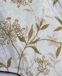"8"" Light Flow cloth pad | Meadow Grass Cotton | Black Polar Fleece | Luna Landings | Sub"