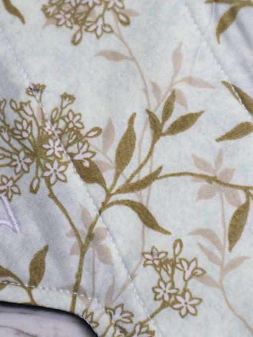 "8"" Light Flow cloth pad   Meadow Grass Cotton   Black Polar Fleece   Luna Landings   Sub"