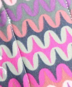 "9"" Heavy Flow cloth pad | Geo Waves Cotton Jersey | Wine Wind Pro Fleece | Luna Landings | Slim Sub"